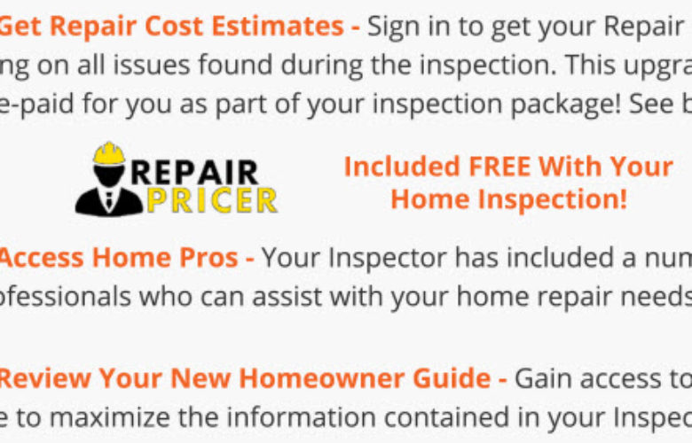 HomeBinder and Repair Pricer Included With The Home Inspection