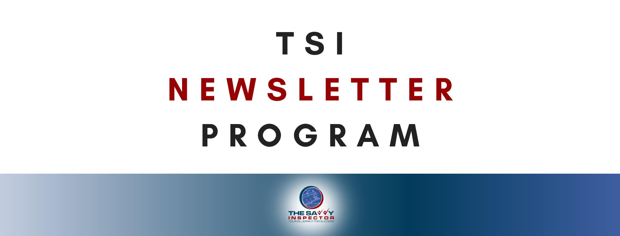 TSI Newsletter Program Banner 2